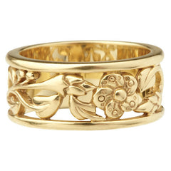 Shropshire Lad 9ct Yellow Gold Cherry Blossom Ring