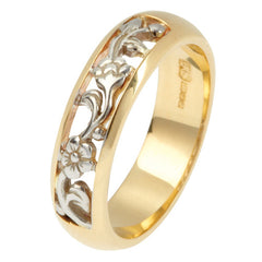 Shropshire Lad 9ct Yellow and White Gold Cherry Blossom Ring