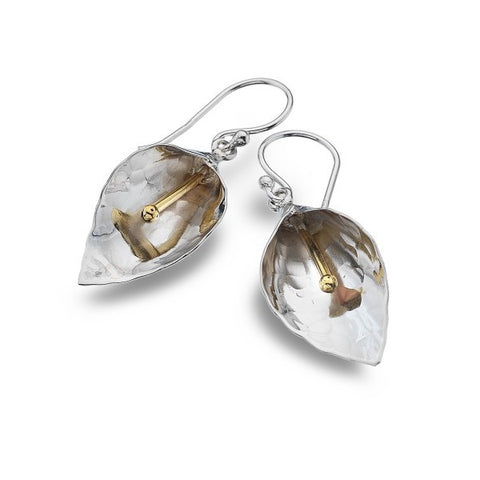 Sea Gems Silver Lily Drop Earrings