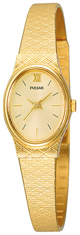 Ladies Pulsar Elegant Gold Plated Dress Watch