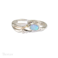 Delicate Silver and Opalite Ring