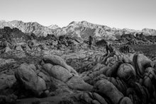 Load image into Gallery viewer, Matte Print | Black and White: Alabama Hills 3894 - Lemonee on the Hills