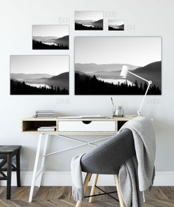 Forex Foam Print | The Black and White: Donner Lake Fog - Lemonee on the Hills