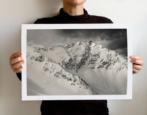 Matte Print | Black and White: Snowbird 5707 - Lemonee on the Hills