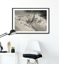 Load image into Gallery viewer, Matte Print | Black and White: Snowbird 5707 - Lemonee on the Hills