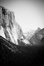 Load image into Gallery viewer, Matte Print | Black and White: El Capitan Yosemite 8384 - Lemonee on the Hills