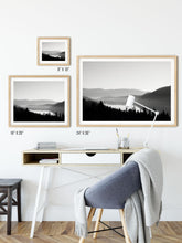 Load image into Gallery viewer, Matte Print | Black and White: Donner Lake Fog - Lemonee on the Hills