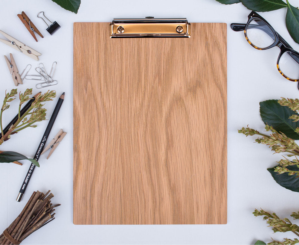 Clipboard | Les Classics: Blank White Oak - Lemonee on the Hills