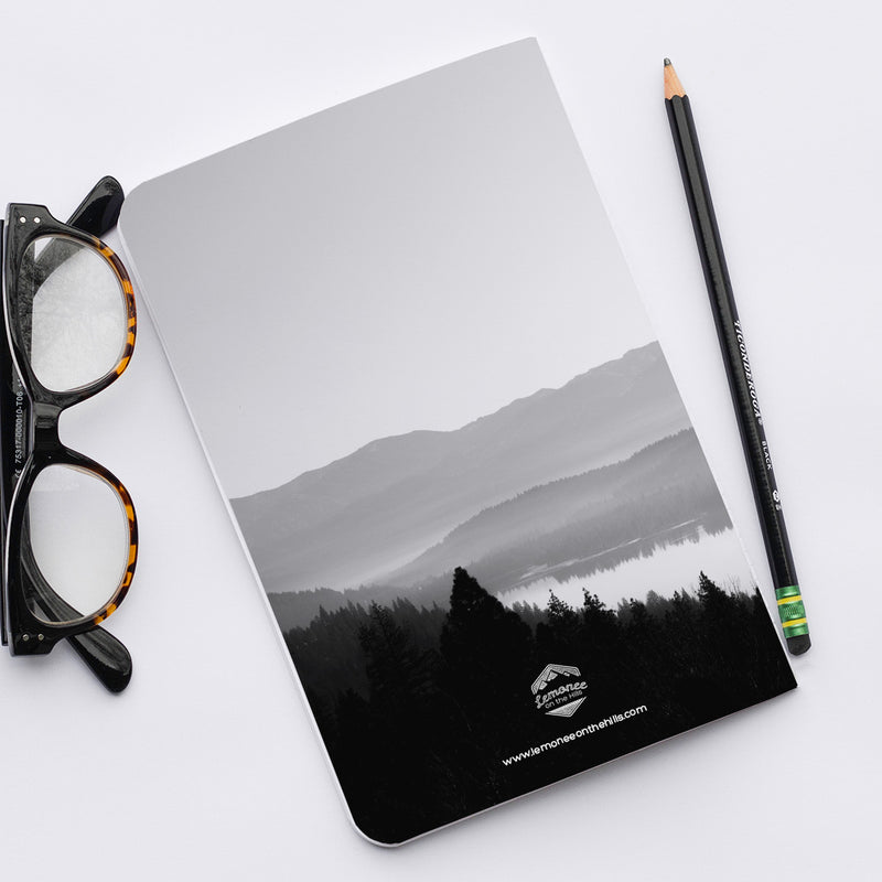 Stitched Notebook | The Black and White: Donner Lake Fog - Lemonee on the Hills