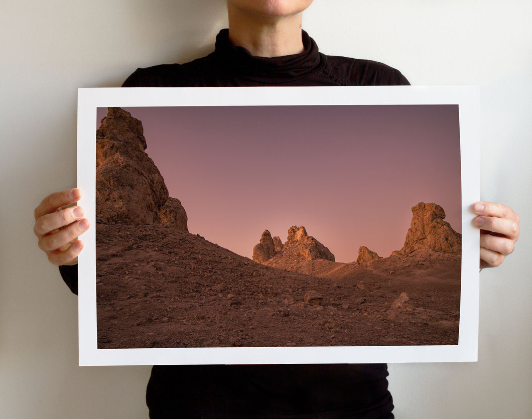 Matte Print | Dry Land: Trona 0552 - Lemonee on the Hills