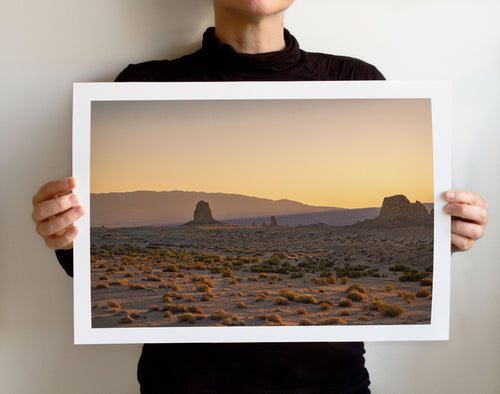 Matte Print | Dry Land: Trona 0614 - Lemonee on the Hills