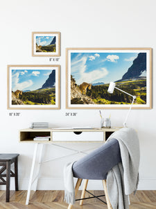 Matte Print | The US National Parks: Glacier 0152 - Lemonee on the Hills