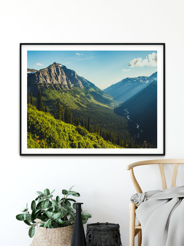 Matte Print | The US National Parks: Glacier 0156 - Lemonee on the Hills