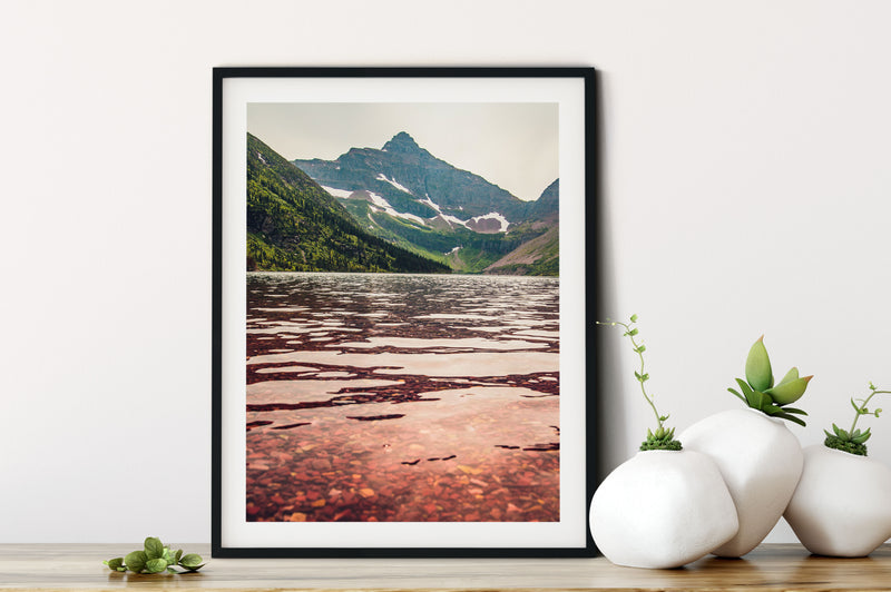 Matte Print | The US National Parks: Glacier 0243 - Lemonee on the Hills