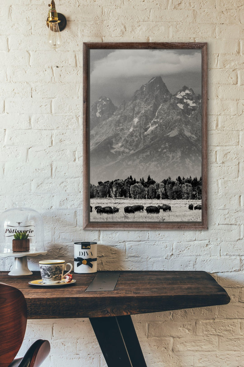 Matte Print | The US National Parks: Grand Teton 1058BW - Lemonee on the Hills