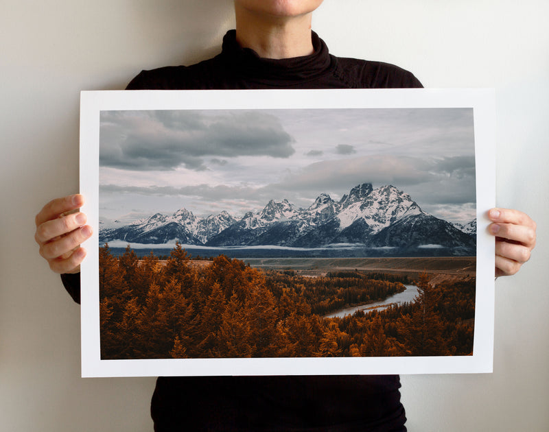 Matte Print | The US National Parks: Grand Teton 9893 - Lemonee on the Hills