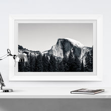 Load image into Gallery viewer, Matte Print | Black and White: Yosemite Half Dome Close Up - Lemonee on the Hills