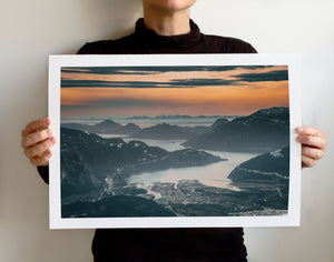Matte Print | The Pacific Northwest: Howe Sound Squamish 0568 - Lemonee on the Hills