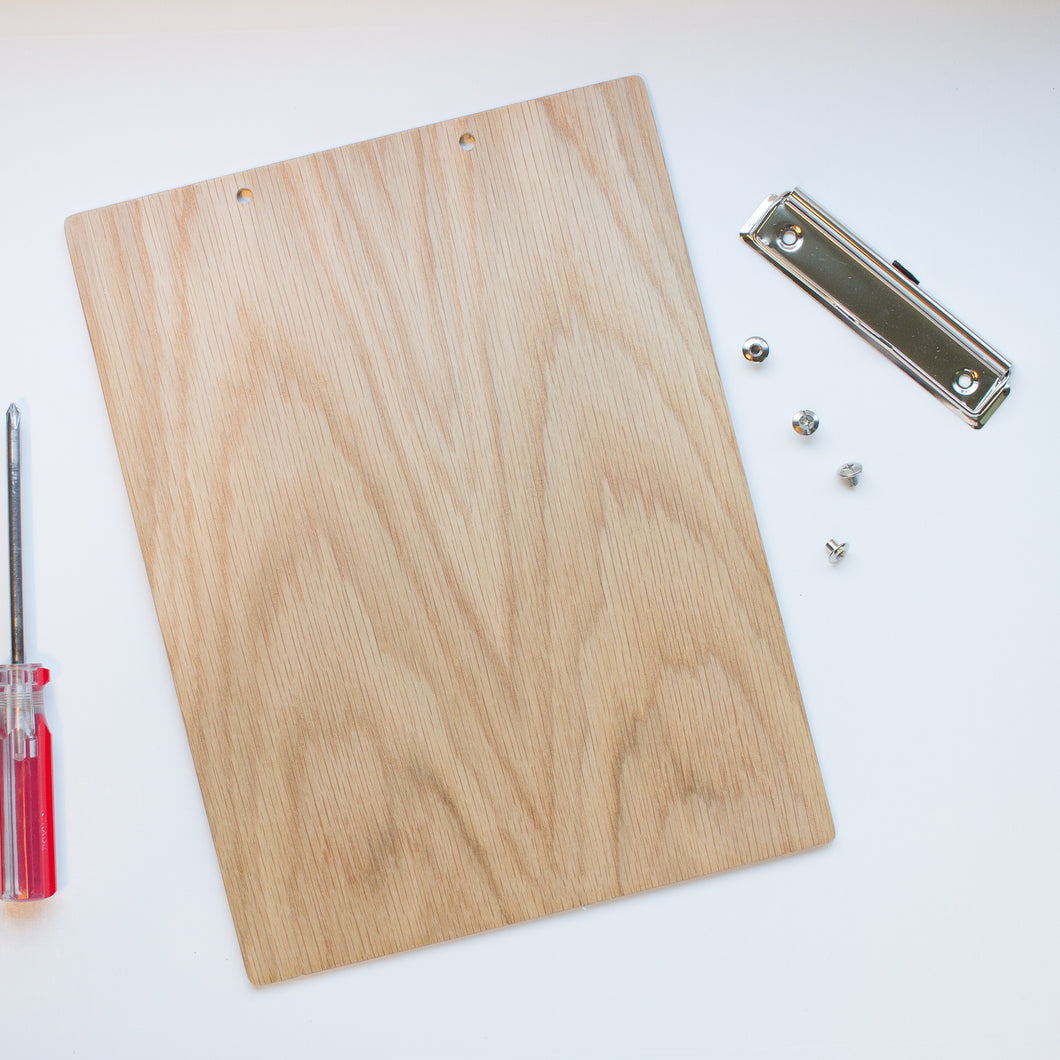 DIY Kit Wood Clipboard | White Oak Natural - Lemonee on the Hills