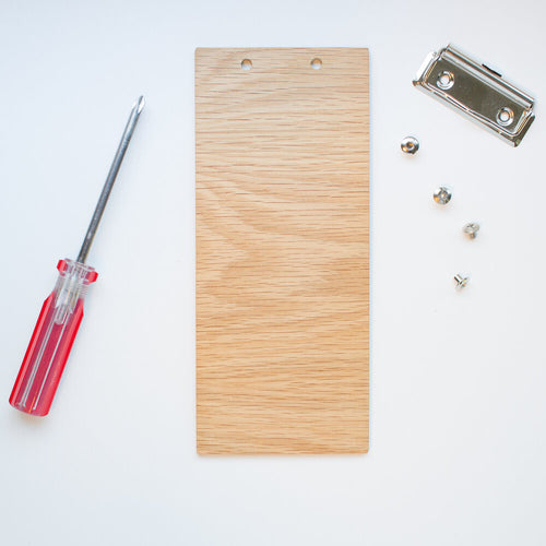 DIY Kits Wood Clipboard | White Oak Natural - Lemonee on the Hills