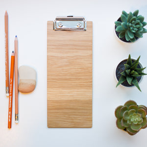 Clipboard | White Oak, Vertical Office or Restaurant Clipboard - Lemonee on the Hills