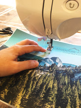 Load image into Gallery viewer, Stitched Notebook. Les Sierras: Sierras 0433 - Lemonee on the Hills