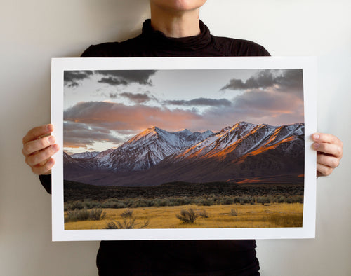 Matte Print | Les Sierras: Eastern Sierras 4860 - Lemonee on the Hills