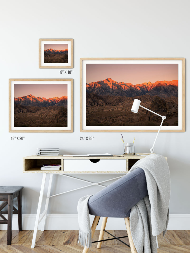Matte Print | Les Sierras: Alabama Hills 0706 - Lemonee on the Hills