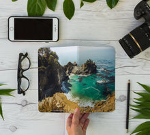 Load image into Gallery viewer, Stitched Notebook | Les Classics: McWay Falls 0464 - Lemonee on the Hills