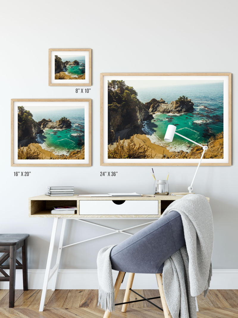 Matte Print | Les Classics: McWay Falls 0464 - Lemonee on the Hills