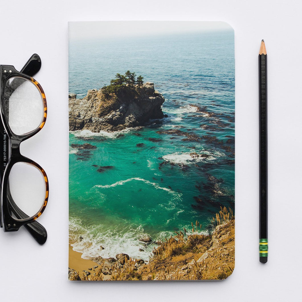 Stitched Notebook | Les Classics: McWay Falls 0464 - Lemonee on the Hills