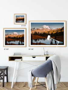Matte Print | The Pacific Northwest: Rainier 0366 - Lemonee on the Hills