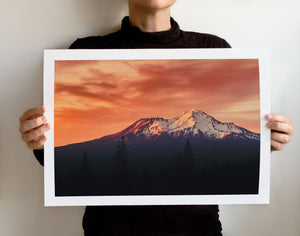 Matte Print | The Pacific Northwest: Shasta 7570 - Lemonee on the Hills