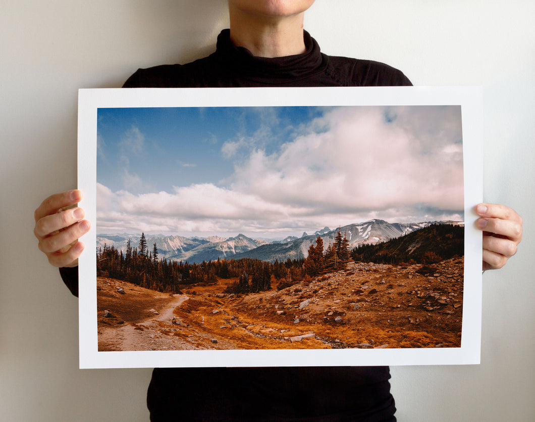 Matte Print | The Pacific Northwest: Rainier 0311 - Lemonee on the Hills