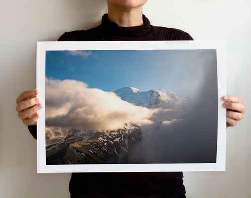 Matte Print | The US National Parks: Rainier 0339 - Lemonee on the Hills