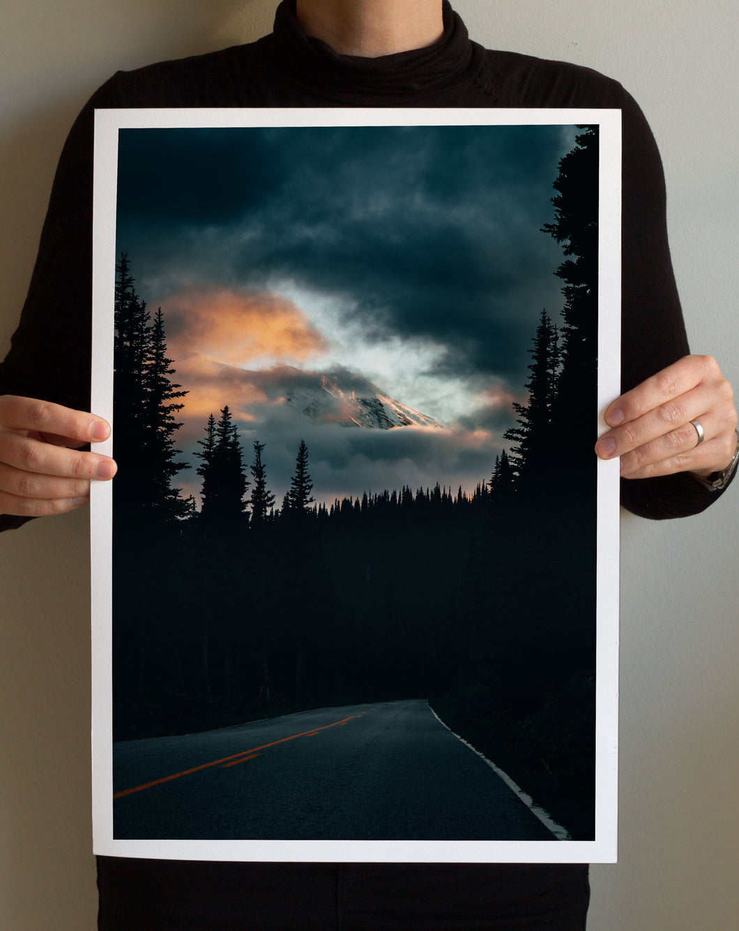 Matte Print | The US National Parks: Rainier 0362 - Lemonee on the Hills