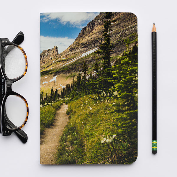 Stitched Notebook | The US National Parks: Glacier 0125 - Lemonee on the Hills