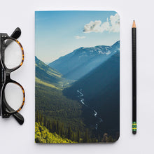 Load image into Gallery viewer, Stitched Notebook | The US National Parks: Glacier 0156 - Lemonee on the Hills