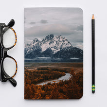 Load image into Gallery viewer, Stitched Notebook | The US National Parks: Grand Teton 9893 - Lemonee on the Hills