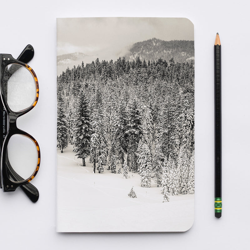 Stitched Notebook | The Black and White: Squaw Alpine 9844 - Lemonee on the Hills