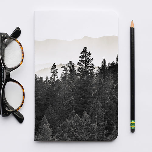 Stitched Notebook | The Black and White: The Trees 0825 - Lemonee on the Hills