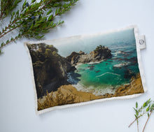 Load image into Gallery viewer, Hot/Cold Microwavable Therapy Pad | Les Classics: McWay Falls 0464 - Lemonee on the Hills
