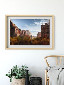 Matte Print | The US National Parks: Zion 9949 - Lemonee on the Hills
