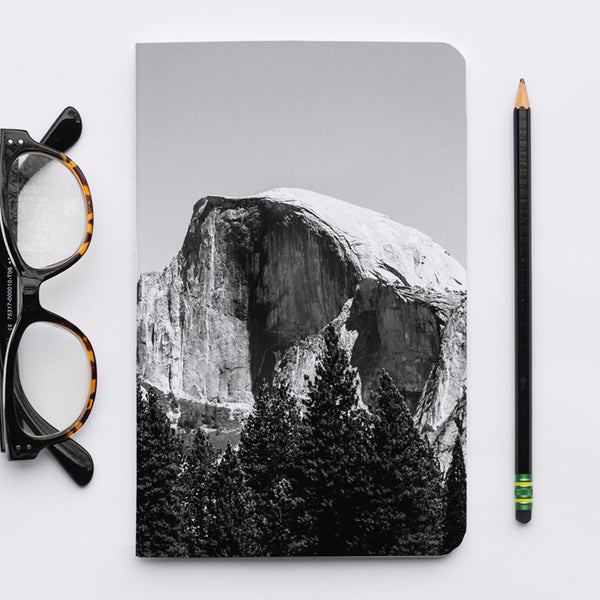 Stitched Notebook | The US National Parks: Yosemite Half Dome - Lemonee on the Hills