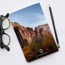 Load image into Gallery viewer, Stitched Notebook | The US National Parks: Zion 9949 - Lemonee on the Hills