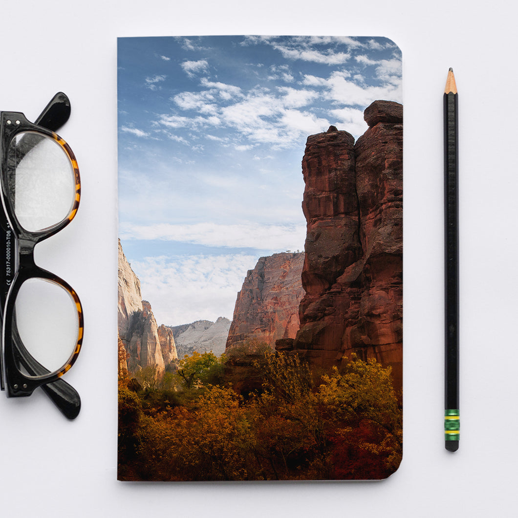 Stitched Notebook | The US National Parks: Zion 9949 - Lemonee on the Hills