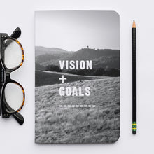 Load image into Gallery viewer, Stitched Notebook | The Black and White: Vision and Goals - Lemonee on the Hills