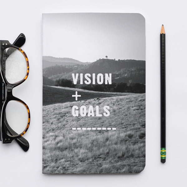 Stitched Notebook | The Black and White: Vision and Goals - Lemonee on the Hills
