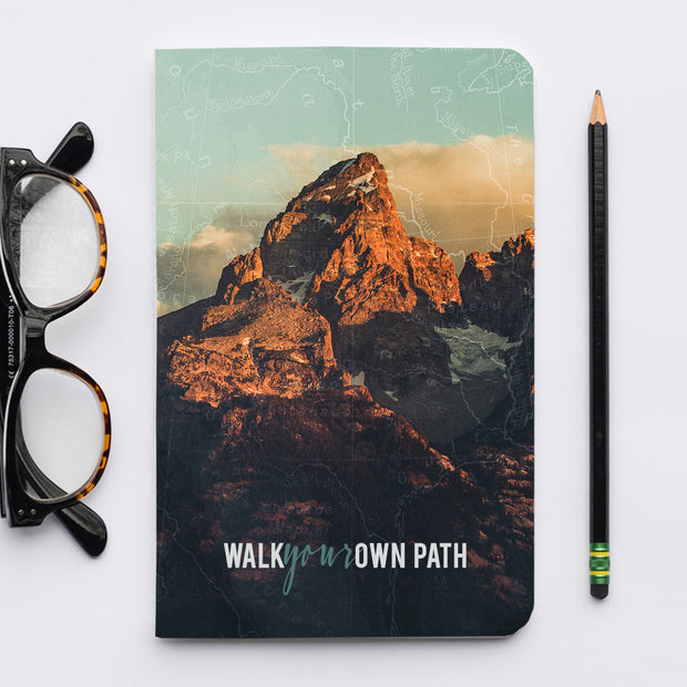 Stitched Journal of The US National Parks: Grand Teton Walk Your Own Path 1