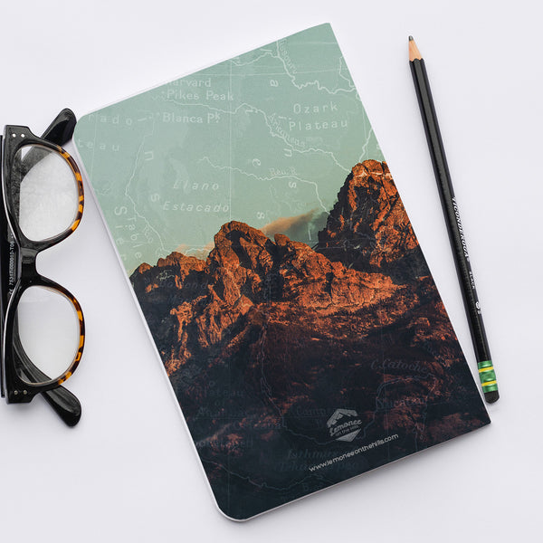 Stitched Notebook | The US National Parks: Grand Teton Walk Your Own Path - Lemonee on the Hills